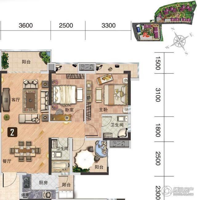 [户型点评] 87平南向两房 三阳台打造时尚美宅