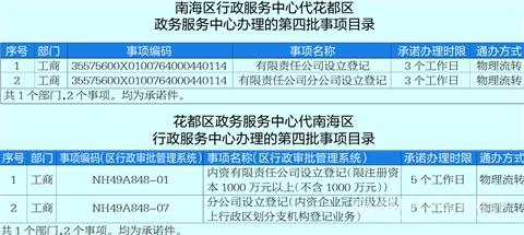 打破行政壁垒 南海已与广州三区实现政务通办