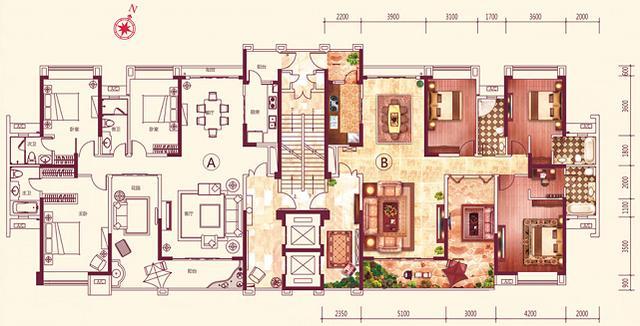 [户型点评] 城央珍稀202方四房 两梯两户带空中花园