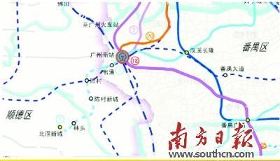广州地铁7号线延伸至顺德北滘