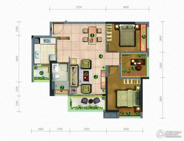 [户型点评] 88平刚需三房 双阳台过舒适阳光生活