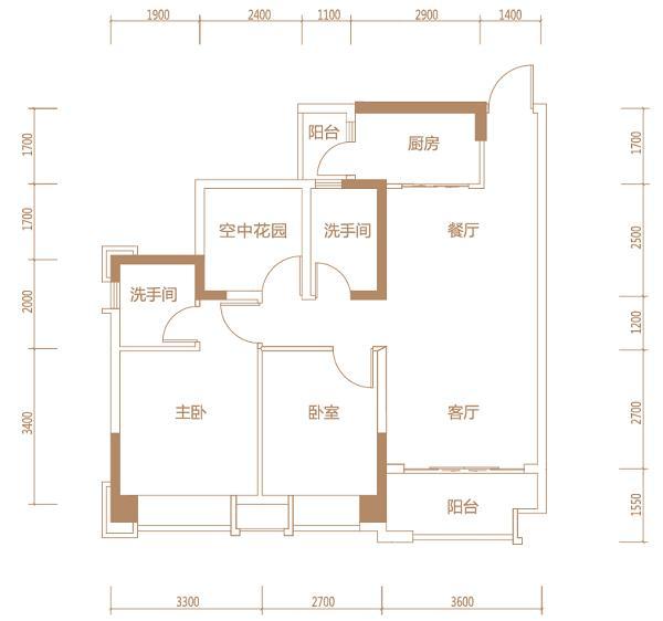 [户型点评] 千灯湖91平经典三房 瞰江景享舒适生活