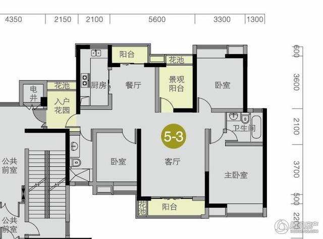 [户型点评] 139平温馨大三房 三阳台全飘窗美景尽收