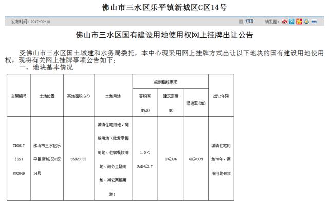 """三水乐平""""乌龙""""地块10月11日重新开拍"""