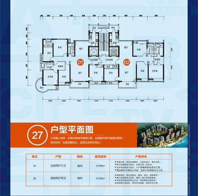 [户型点评] 190方一线江景 双套房享尊贵私密生活