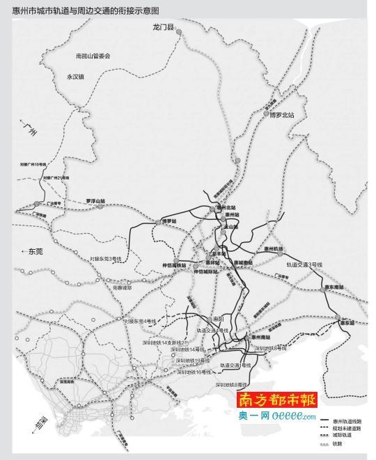 惠州多条轨道交通接广深 五条高速公路通南北
