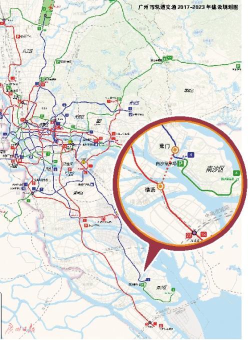"""广州地铁4号线18号线拟在南沙""""牵手"""""""