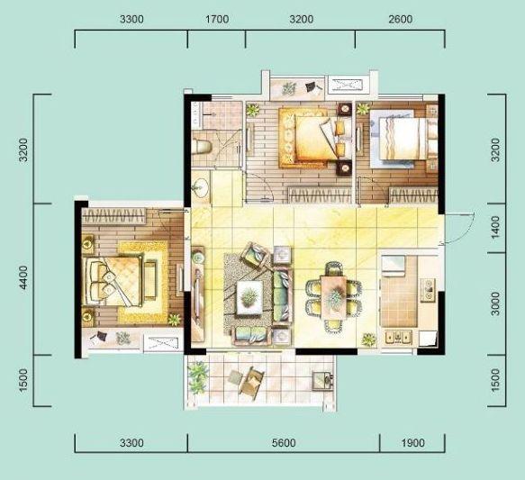 [户型点评] 89平刚需三房 横厅尽享通风采光