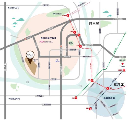 白云一线道路规划图