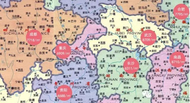 令国人悲伤的中国房价地图