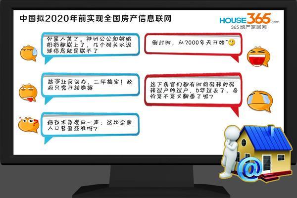 中国拟2020年前实现全国房产信息联网