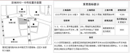 福晟集团竞得宗地2012-15地块