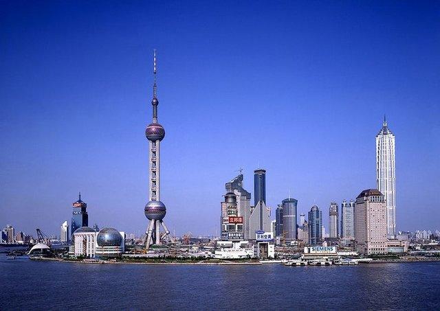 上海地标建筑 东方明珠广播电视塔