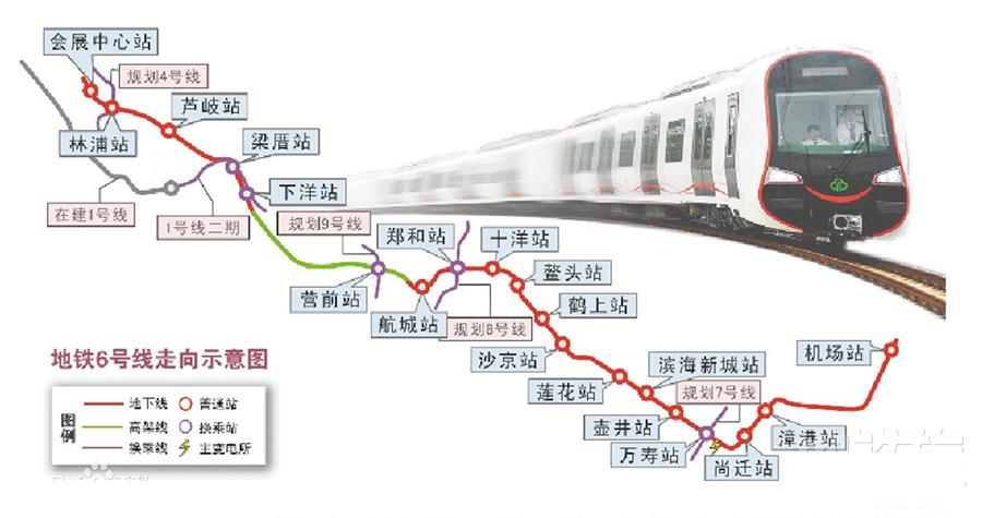 地铁6号线24分钟直达长乐,盘点沿线楼盘