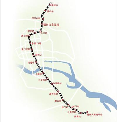 福州地铁一号线站点图-福州地铁1号线黄山站开始围挡施工 出行尽量绕