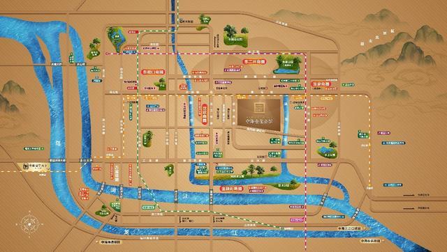 中海金玺公馆主推71-110平复式 总价约300-480万/套