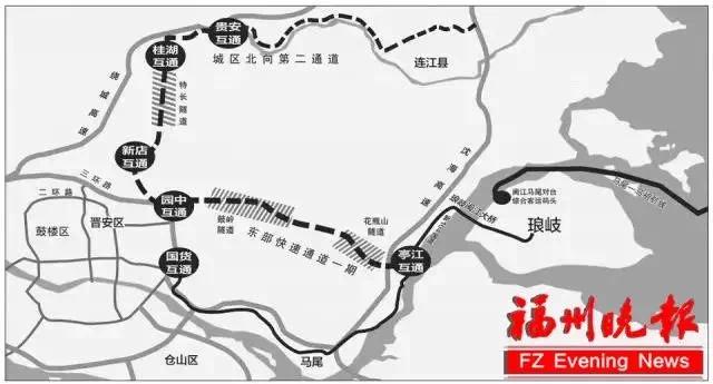 重磅!福州城区北向第二通道(晋安段)工程建设用地获批!