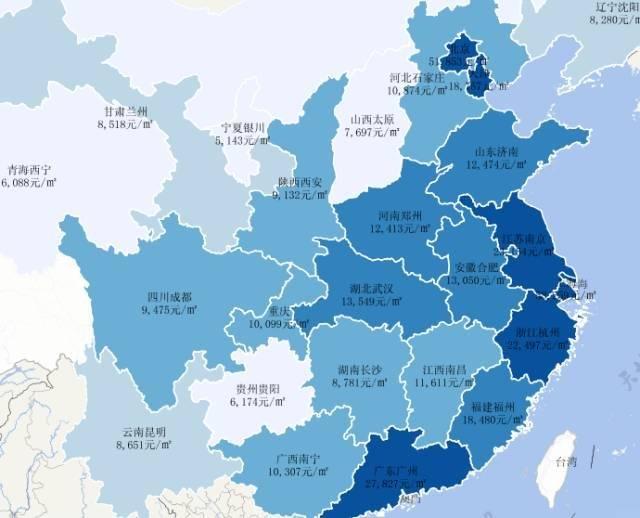 全国房价涨幅地图:这一轮暴涨有多恐怖?