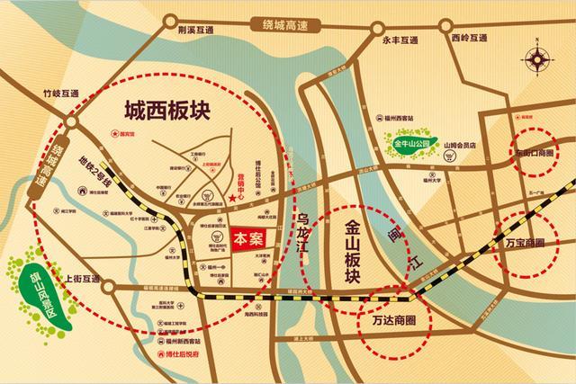金华市城西片区规划图