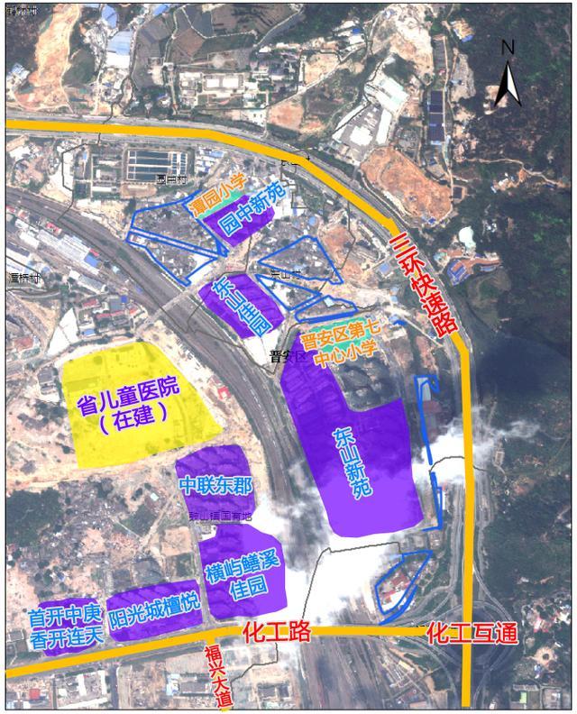 鼓山镇东山新城项目拟征收164亩 毗邻东二环