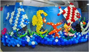 拍出梦幻效果的海洋生物背景墙