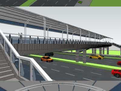 上街大学城将建两座过街天桥 保障行人过街安全