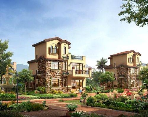 碧桂园马来西亚项目独栋别墅效果图图片