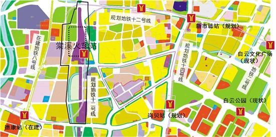 广州棠溪火车站 预留6条地铁接入