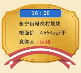 保利49400万拿下增城永宁街塔岗村地块 楼面价4654元/平