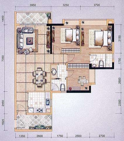 户型点评:东山印象台111平三房+69平二房