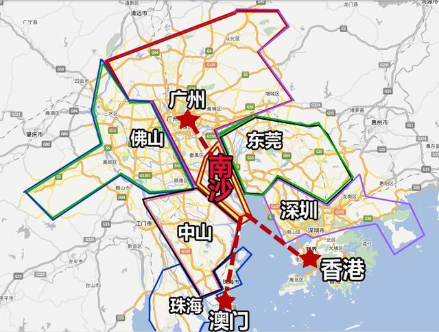 2005年4月28日,国务院批准广州市行政区划调整,新设立南沙区; 2015年图片