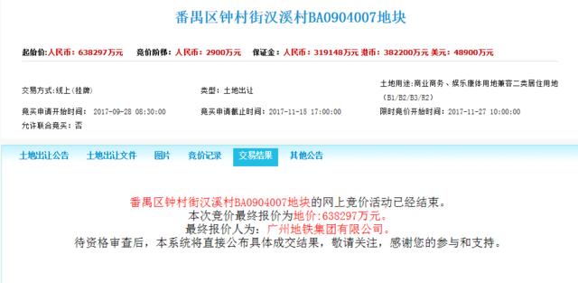 12月广州继续卖地 白云老城区靓地出让 科学城又添一学校