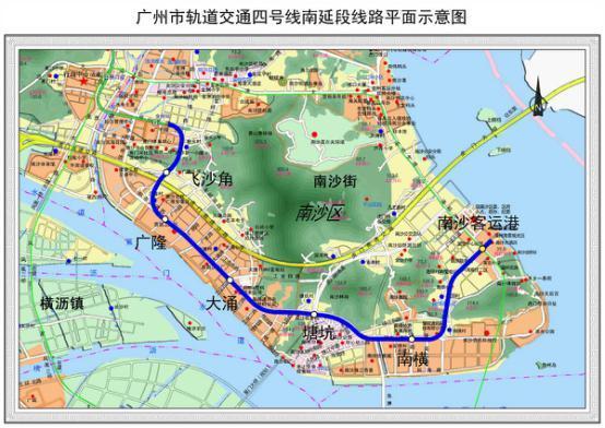 """南沙发展再次被政府""""划重点"""" 四号线南延段今年底通车"""