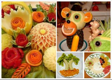 各种水果瞬间摇身变成精巧奇特的花束,呆萌可爱的小动物等,绝对让你喜