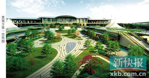 ■广州南站核心区地下空间规划景观效果图.-广州南站地下近1 4开发商