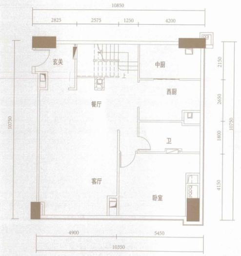 户型点评:恒大珺睿LOFT空中墅E1户型4房2厅