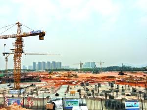 知识城住宅项目陆续有来 知识城支线土建工程完成76%