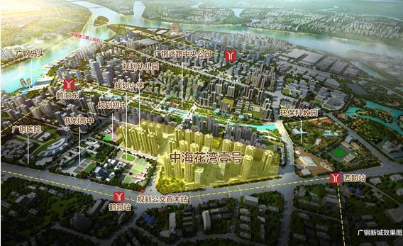 未来的居住新城:32所学校+5大三甲医院+4地铁+3电车