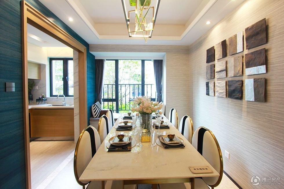 白蓝搭配的拼接设计 让112平的家美出新高度
