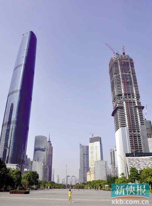 州天河cbd_据介绍,目前天河cbd的核心区域珠江新城还有一半没建好.