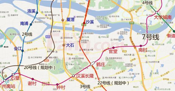 """广州地铁7号线2016年底开通 番禺""""三纵一横""""助涨楼市"""