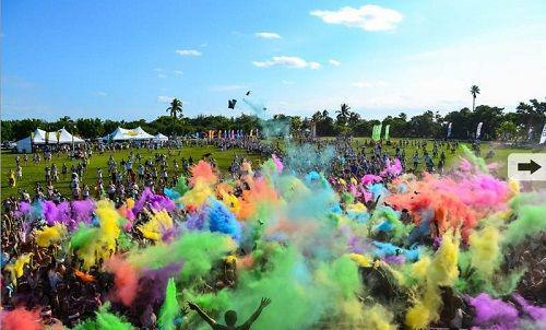 the color run彩跑活动 2015年首站登陆金沙半岛