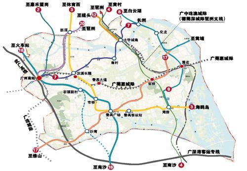 9地铁5城轨过番禺 1小时生活圈不在是梦!