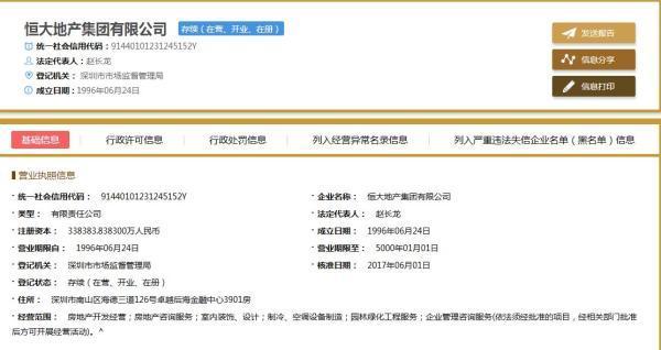 恒大地产集团总部搬迁工作已开始 月底前正式迁入深圳