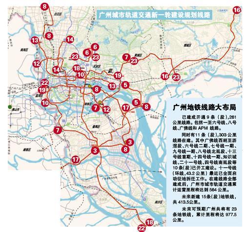 广州地铁2020年规划图