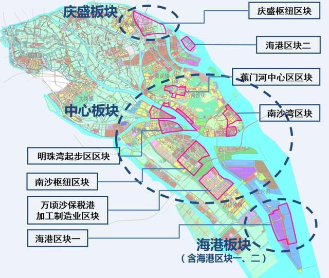 南沙自贸区规划图