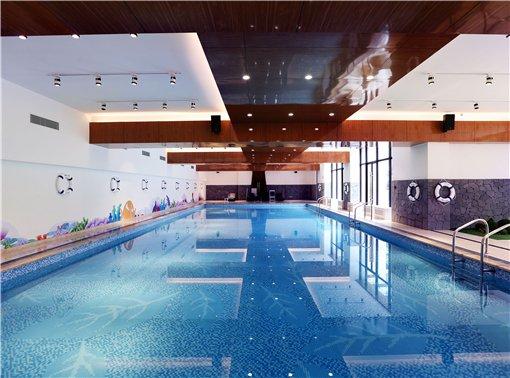 超美泳池实景