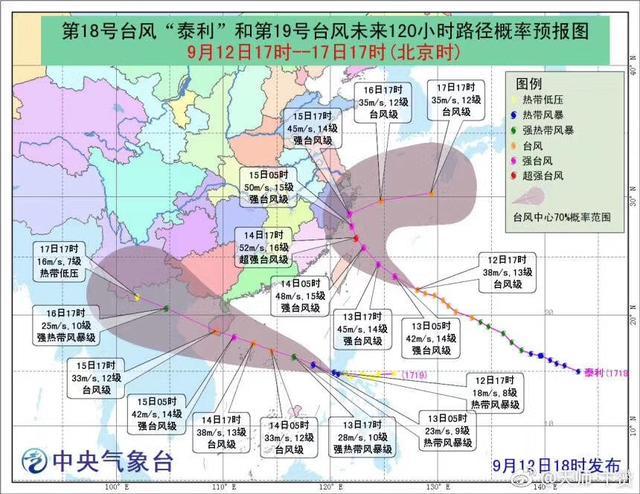 """19号台风""""杜苏芮""""生成 趋向粤琼沿海"""