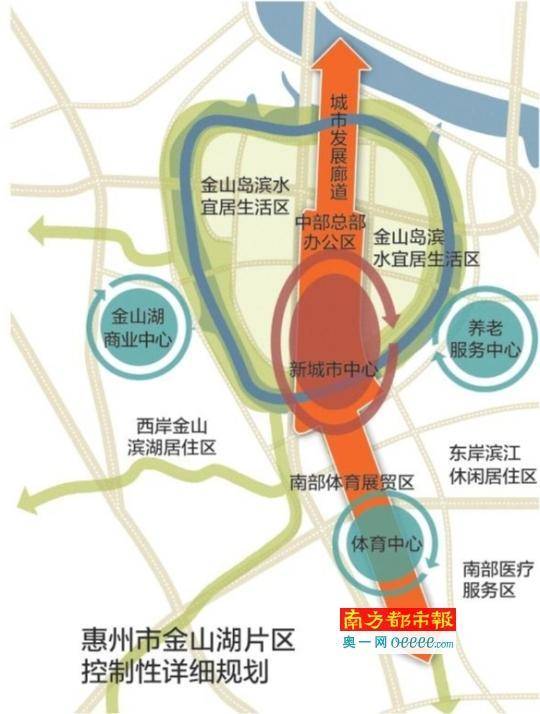 前日,《惠州市金山湖片区概念性城市设计与控制性详细规划(调整)》