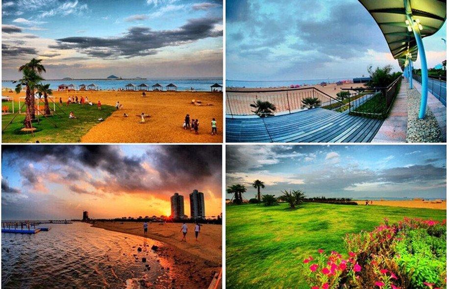 金山新城是上海唯一的滨海新城,景观长廊、滨海游泳场、沙滩排球馆和国家4A级旅游景区城市沙滩